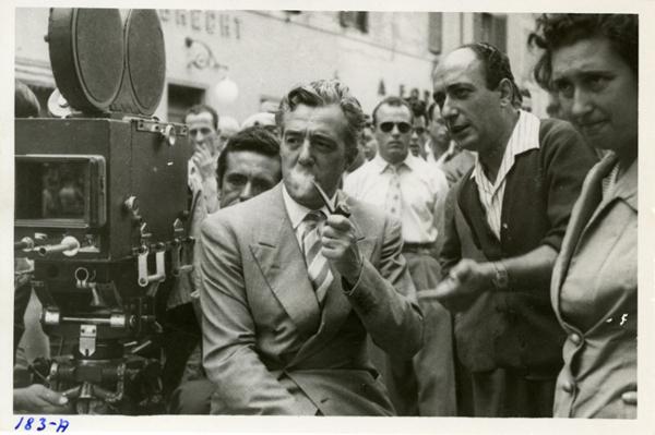 """Vittorio De Sica sul set di """"Ladri di biciclette"""""""