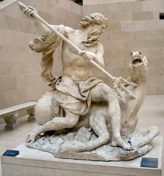 Poseidone, statua presente al Museo Louvre, Paris.