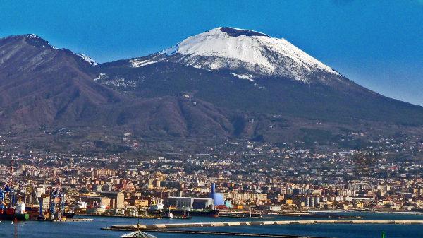 Neve sul Vesuvio - freddo siberiano