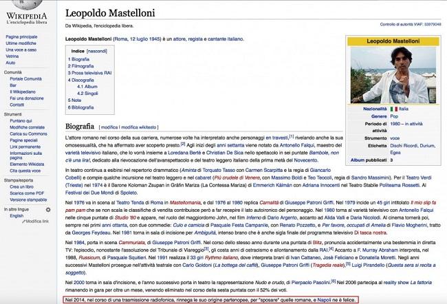 Wikipedia Leopoldo Mastelloni