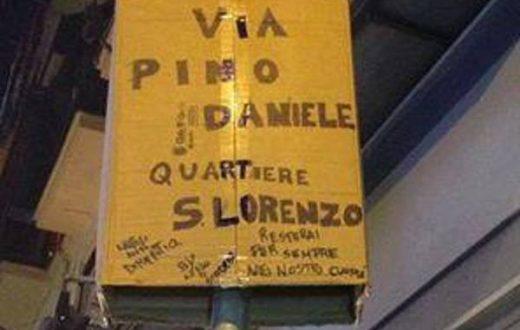 Cartello Pino Daniele