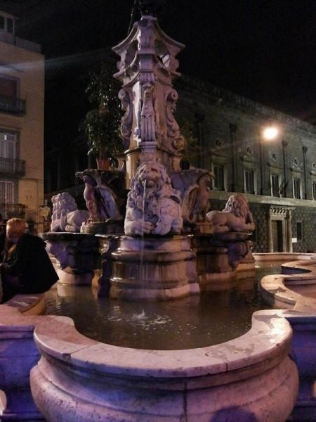 Fontana Monteoliveto ripulita