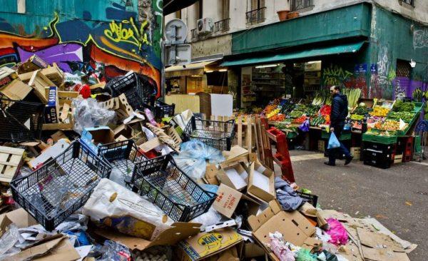 Foto spazzatura Francia