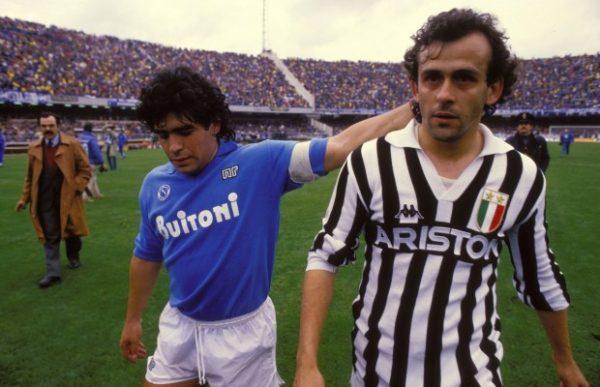 Napoli - Juventus, Maradona e Platini
