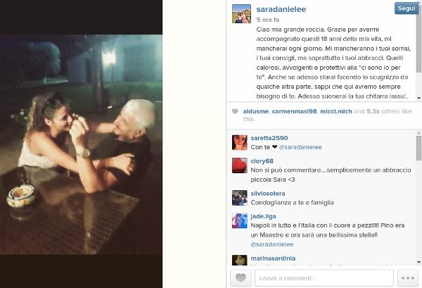 Pino Daniele - Sara Daniele - Instagram