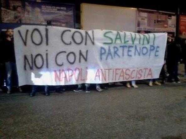Protesta Noi con Salvini