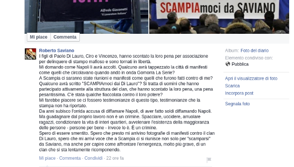 Roberto Saviano - clan Di Lauro
