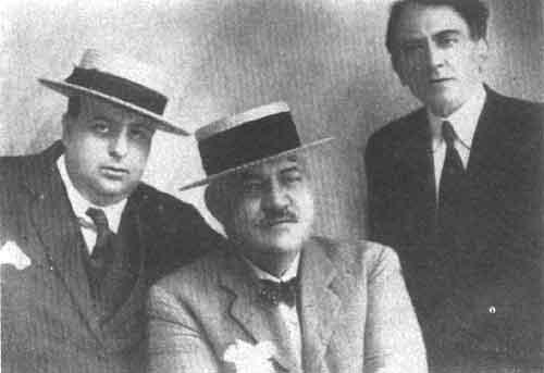 Libero Bovio con Salvatore Di Giacomo e Ferdinando Russo