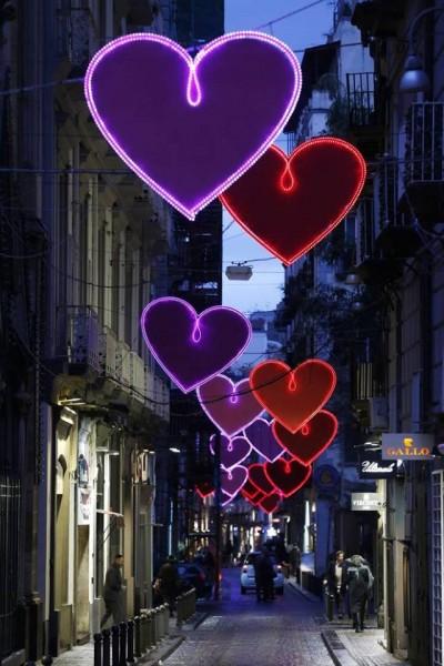 Cuori strade di Napoli