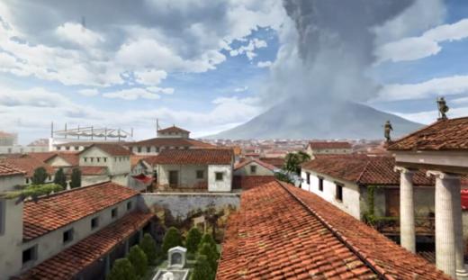 Eruzione del Vesuvio del 79 d.C. - ricostruzione 3D