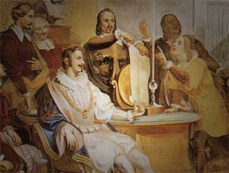 Gasparo Martellini Una riunione dell'Accademia del Cimento