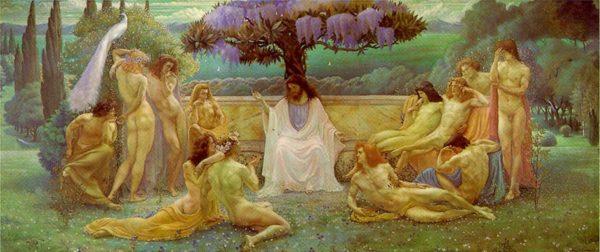 Lean Delville, La scuola di Platone
