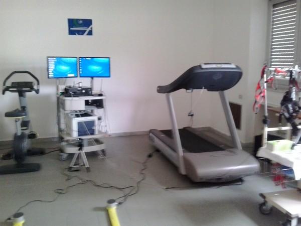 Il laboratorio per testare gli atleti del centro