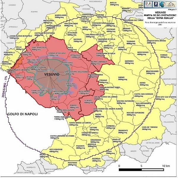 Nuova mappa rischio Vesuvio
