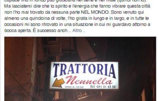 Pablo Trincia e la cena da Nennella