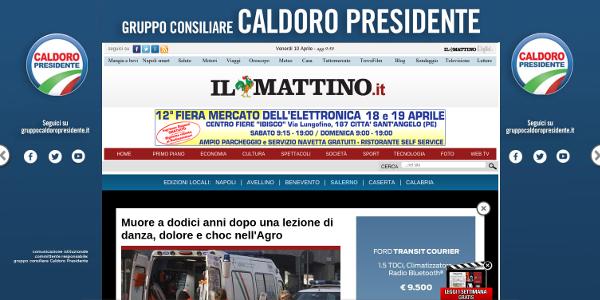Il Mattino - Caldoro Presidente