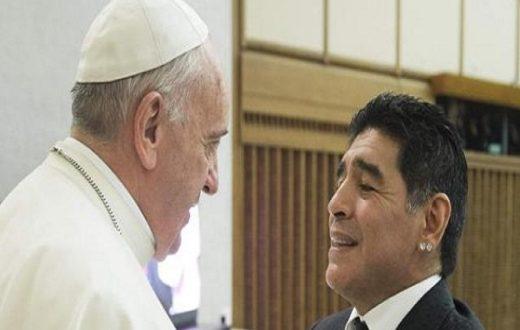 Maradona e Papa Francesco