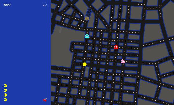 Pac-Man Quartieri Spagnoli, Napoli, Google Maps