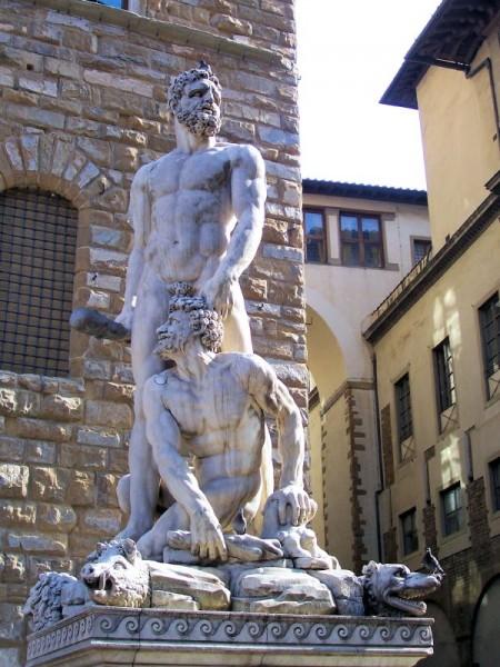 Ercole e Caco, di Baccio Bandinelli, piazza della Signoria, Firenze