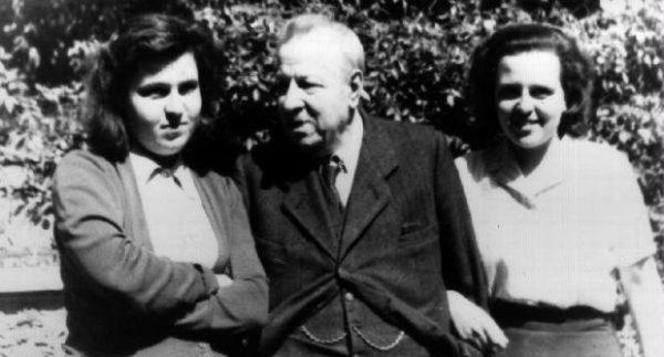 Lidia Croce col padre e la sorella