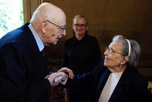 Lidia Croce incontra il Presidente Napolitano