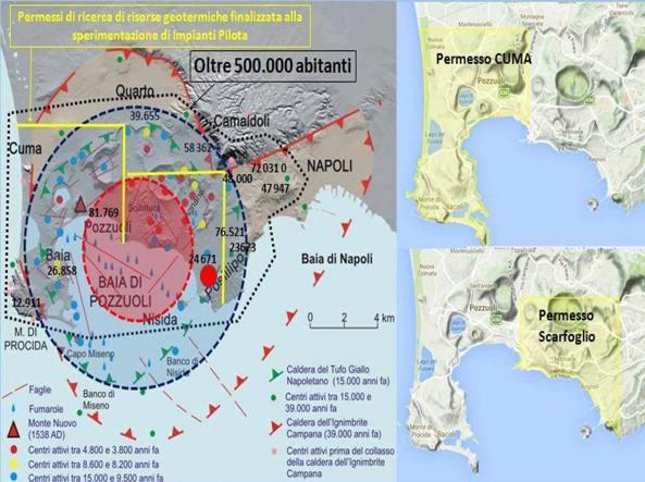 Mappa sui permessi di ricerche geotermiche