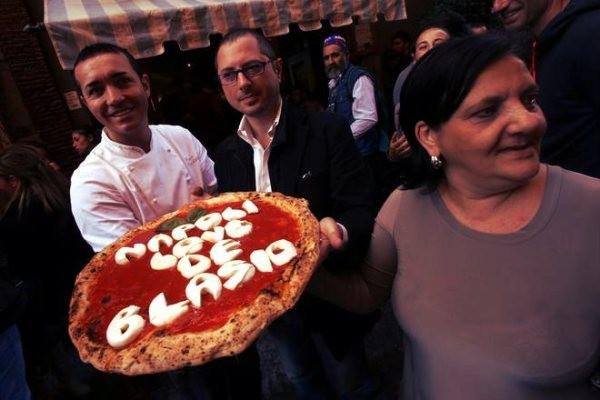 pizza per de Blasio