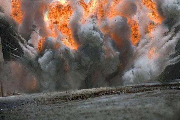 Esplosione fabbrica fuochi d'artificio