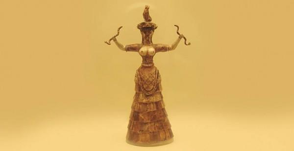 Statuetta raffigurante la Potnia