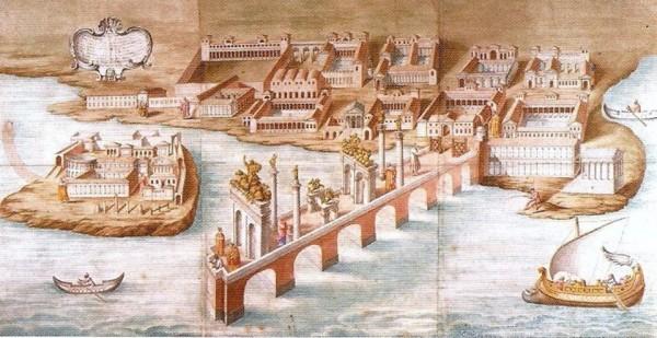 Disegno Bellori: copia acquarellata di Francesco Bartoli, conservata fra i Topham Drawings nell'Eton College Library