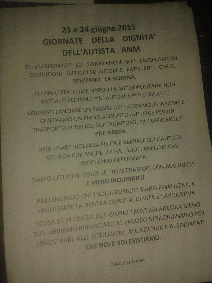 Volantino protesta ANM