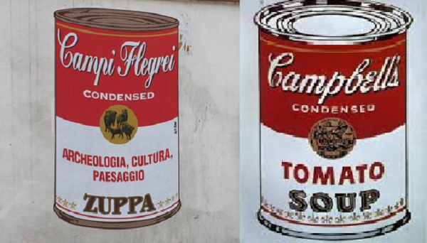 street art campbells' campi flegrei andy warhol