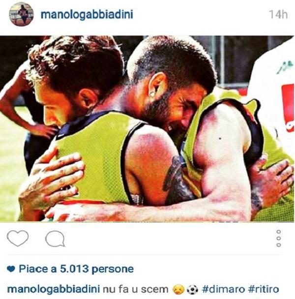 Gabbiadini Instagram