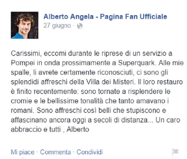 Post Alberto Angela