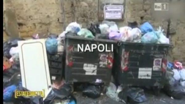 Servizio Rai sui rifiuti a Napoli