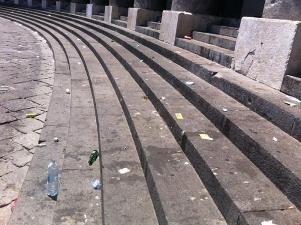 piazza del plebiscito dopo il concerto de il volo.3