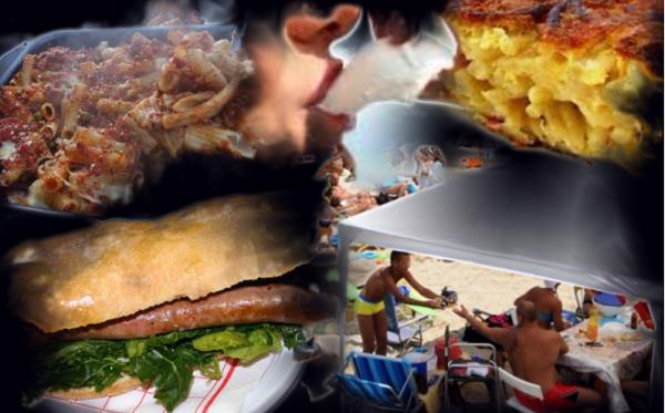 pranzo in spiaggia napoletani al mare