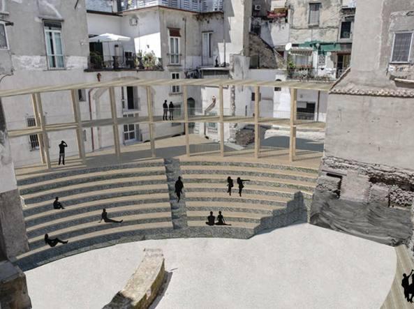 Progetto per il Teatro di Neapolis (foto del Corriere del Mezzogiorno)