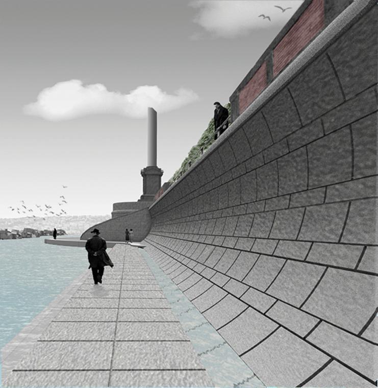 Un muro per passeggiare sotto il lungomare caracciolo for Planimetrie domestiche di un livello