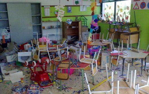 Scuola materna - Atto vandalico