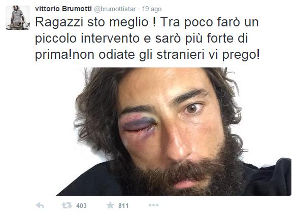 Vittorio Brumotti pestato operazione