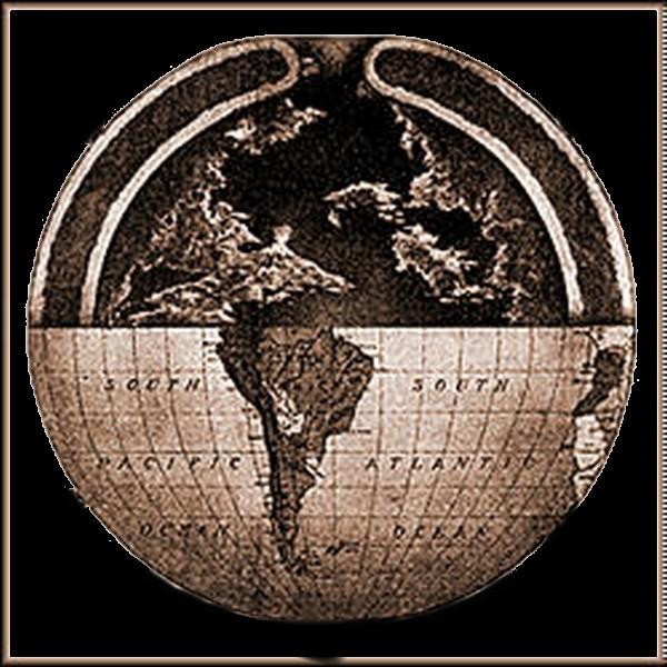 """Ipotetica mappa raffigurante la """"Terra Cava"""""""