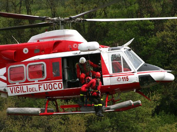 Elicottero soccorsi - uomo cade in burrone