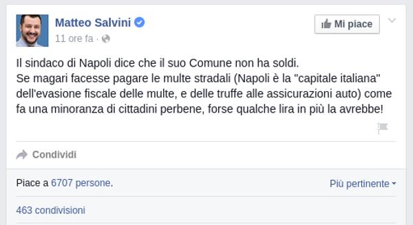 Matteo Salvini napoletani truffatori disonesti truffe