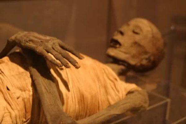 Mummia corpo imbalsamato Afragola