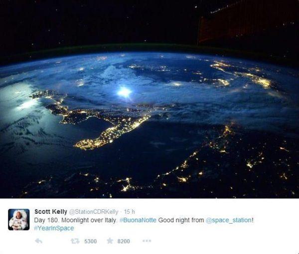 Temporale visto dallo spazio