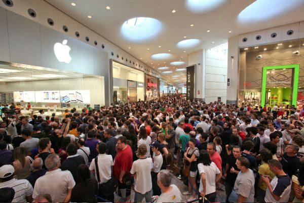 folla coda persone elettronica