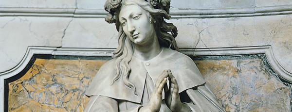 statua di santa Rosalia nella Cappella di Sansevero