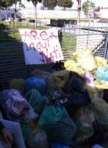 Studenti puliscono il parco degradato