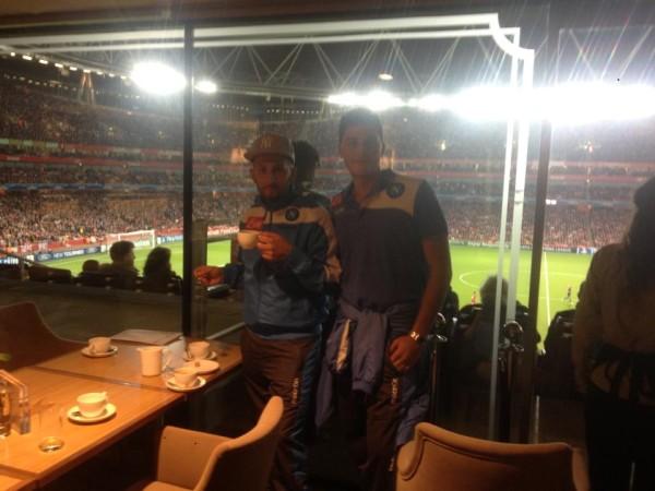 Nell'Executive box dell'Emirates Stadium